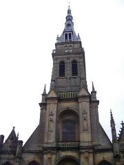 Basilique Notre-Dame de l'Espérance -  Partie haute Façade église Notre Dame Mézières Charleville-Mézières Ardennes France
