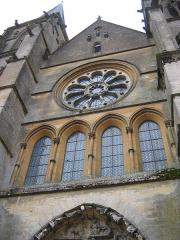 Eglise abbatiale Notre-Dame - Au dessus du portail occidental Abbatiale Mouzon Ardennes France