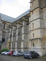 Eglise abbatiale Notre-Dame - Contrefort Nef cote Nord Abbatiale Mouzon Ardennes France