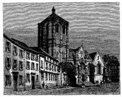 Eglise Saint-Nicolas -  extrait de La France illustrée, géographie, histoire, administration, statistique, etc., tome I, par V.-A. Malte-Brun.