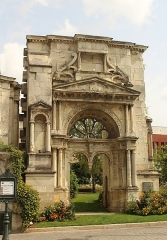 Eglise Saint-Martin - English: Épernay, portal to the church Saint-Martin