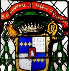 Eglise Notre-Dame-du-Soldat - Français:   Vitrail de l\'église de Hans, Henri de Dampierre 93e évêque de Clermont.