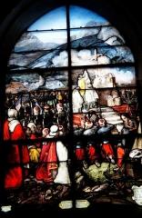 Eglise Notre-Dame-du-Soldat - Français:   Messe en Kabylie 5 juin 1853, vitrail de l\'église de Hans.