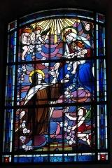 Eglise de la Nativité de la Vierge - Deutsch: Katholische Kirche Notre-Dame-de-la-Nativité in Sermaize-les-Bains im Département Marne in der Region Grand Est/Frankreich, Bleiglasfenster