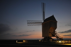 Moulin de Valmy - English:    Windmill of Valmy; Marne, France.