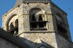 Eglise Saint-Alpin - Deutsch: Katholische Kirche Saint-Alpin in Villevenard im Département Marne in der Region Grand Est/Frankreich, Glockenturm