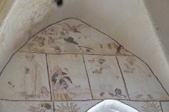 Eglise Saint-Alpin - Deutsch: Katholische Kirche Saint-Alpin in Villevenard im Département Marne in der Region Grand Est/Frankreich, Wandmalerei aus der zweiten Hälfte des 16. Jahrhunderts; Opfer Isaaks