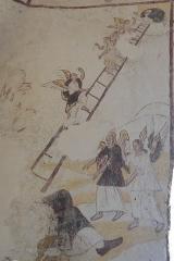 Eglise Saint-Alpin - Deutsch: Katholische Kirche Saint-Alpin in Villevenard im Département Marne in der Region Grand Est/Frankreich, Wandmalerei aus der zweiten Hälfte des 16. Jahrhunderts; Jakobsleiter