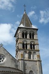 Eglise - Deutsch: Kirche Saint-Étienne in Vignory im Département Haute-Marne (Champagne-Ardenne/Frankreich), Glockenturm