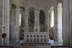 Eglise - Deutsch: Kirche Saint-Étienne in Vignory im Département Haute-Marne (Champagne-Ardenne/Frankreich), Apsis mit Chorumgang