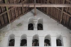 Eglise - Deutsch: Kirche Saint-Étienne in Vignory im Département Haute-Marne (Champagne-Ardenne/Frankreich), Mittelschiffhochwand