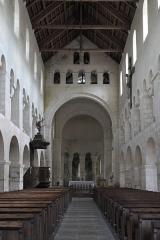 Eglise - Deutsch: Kirche Saint-Étienne in Vignory im Département Haute-Marne (Champagne-Ardenne/Frankreich), Innenraum