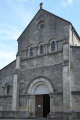 Eglise - Deutsch: Kirche Saint-Étienne in Vignory im Département Haute-Marne (Champagne-Ardenne/Frankreich), Westfassade