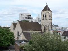 Eglise Saint-Pierre-Saint-Paul - English: Vue d'altitude de l'Église saint-Pierre-et-saint-Paul d'Ivry-sur-Seine