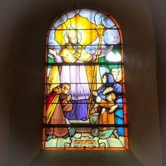Eglise Saint-Pierre-Saint-Paul - Saint Frambourg Vitrail datant de 1916.   Maitre-verrier: Charles Champigneulle