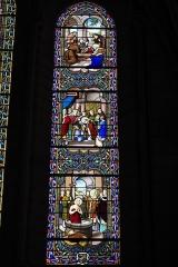 Eglise Saint-Martin - Deutsch: Katholische Pfarrkirche Saint-Martin in Sucy-en-Brie im Département Val-de-Marne (Île-de-France/Frankreich), Bleiglasfenster, mit der Signatur: FR. HAUSSAIRE REIMS 1895