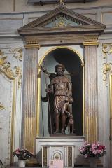 Eglise Saint-Cyr-Sainte-Julitte - Deutsch: Katholische Pfarrkirche Saint-Cyr-Sainte-Julitte in Villejuif im Département Val-de-Marne (Île-de-France/Frankreich), Seitenaltar, Skulptur des hl. Rochus von Montpellier