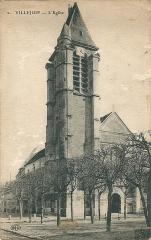 Eglise Saint-Cyr-Sainte-Julitte - Villejuif (Seine-et-Oise, France); l'église vers 1925
