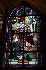 Eglise Saint-Georges - Deutsch: Bleiglasfenster in der Kirche Saint-Georges in Villeneuve-Saint-Georges im Département Val-de-Marne (Île-de-France), Darstellung: Margareta Maria Alacoque