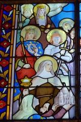 Eglise Saint-Georges - Deutsch: Bleiglasfenster in der Kirche Saint-Georges in Villeneuve-Saint-Georges im Département Val-de-Marne (Île-de-France), Darstellung: die Kirche Sacré-Cœur wird dem Herz Jeus geweiht, Ausschnitt mit Ludwig dem Heiligen