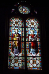Eglise Saint-Georges - Deutsch: Bleiglasfenster in der Kirche Saint-Georges in Villeneuve-Saint-Georges im Département Val-de-Marne (Île-de-France), Darstellung: hl. Catherine von Alexandria und hl. Cäcilia