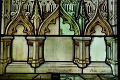 Eglise Notre-Dame-des-Vertus - Deutsch: Bleiglasfenster (Ausschnitt) in der katholischen Pfarrkirche Notre-Dame-des-Vertus in Aubervilliers, Signatur: