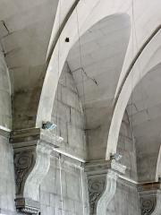 Ancienne abbaye Saint-Denis, actuellement maison d'éducation de la Légion d'Honneur - Français:   Abbaye - Aile est - Ancienne salle capitulaire: détail de la voûte