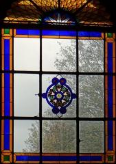Ancienne abbaye Saint-Denis, actuellement maison d'éducation de la Légion d'Honneur - Français:   Abbaye - Aile est - Ancienne salle des gardes, actuelle chapelle: verrière avec le blason de la Légion d\'honneur