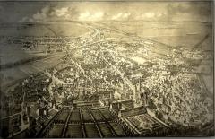 Carmel - Français:   Julien Devique, La ville de Saint-Denis, lithographie, 2e moitié XIXe s., inv. 82.23.01.