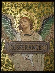 Carmel - Français:   Luc-Olivier Merson et Charles Girault, L\'Espérance, mosaïque émaillé, 1897-98.