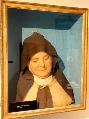 Carmel - Français:   Mère Julie de Jésus, buste en cire, XVIIIe s.