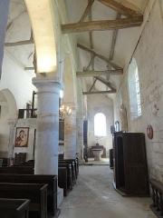 Eglise Saint-Clair - Français:   Bas-côté nord, vue vers l\'ouest.