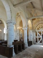 Eglise Saint-Clair - Français:   Bas-côté sud, grandes arcades.