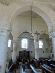 Eglise Saint-Clair - Français:   Bas-côté sud, vue par la deuxième grande arcade.