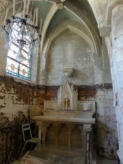 Eglise Saint-Clair - Français:   Chapelle nord, chevet.