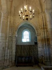 Eglise Saint-Clair - Français:   Première travée du chœur, côté nord.