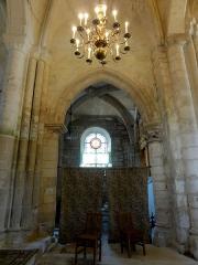 Eglise Saint-Clair - Français:   Première travée du chœur, côté sud.