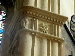 Eglise Saint-Martin - Français:   Chœur, grandes arcades du nord, entablement à la retombée de la seconde arcade côté est.