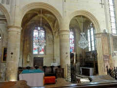 Eglise Saint-Martin - Français:   Chœur, grandes arcades au nord.