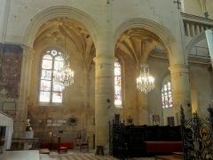 Eglise Saint-Martin - Français:   Chœur, grandes arcades au sud.