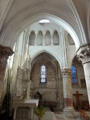 Eglise Notre-Dame -  Collatéral nord du choeur, vue par la seconde grande arcade.