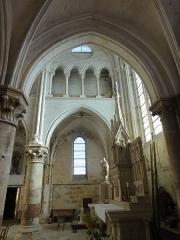 Eglise Notre-Dame -  Collatéral sud du choeur, vue par la seconde grande arcade.