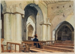 Eglise de Jouy-le-Comte -  église de jouy le comte par Auguste_Ottin
