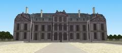 Château des Caramans - Français:   Vue du château depuis la cour d\'honneur. XVIIIe siècle.