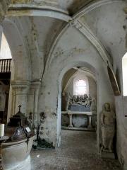 Eglise Saint-Clair - Français:   Seconde travée du bas-côté nord, côté ouest.