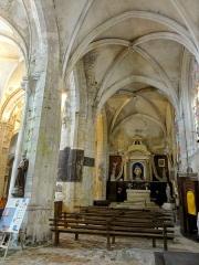Eglise Saint-Clair - Français:   Collatéral sud, vue vers l\'est.