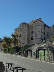 Château -  Façade est du château de Château-Arnoux (qui abrite la mairie).