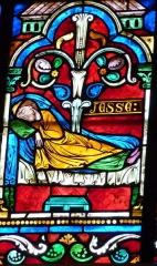 Cathédrale Saint-Jérôme - Deutsch: Bleiglasfenster in der Kathedrale Saint-Jérome in Digne-les-Bains, Darstellung (Ausschnitt): Jesse