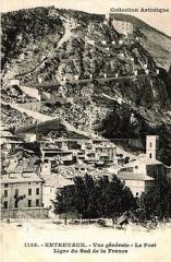 Fortifications et citadelle - Entrevaux vue générale
