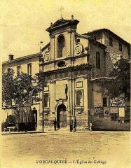 Collège - Français:   Forcalquier église du collège